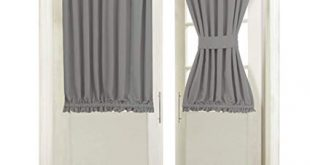 Amazon.com: Aquazolax Blackout Rod Pockets Door/Window Curtain Back