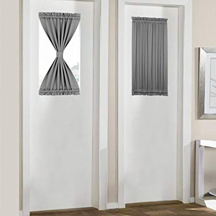 Amazon.com: PANOVOUS Grey French Door Curtains for Small Windows