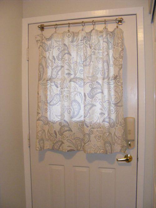 Curtain For Door With Half Window #ModernLivingRoom
