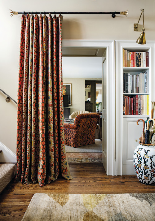 Curtains on Doorways: Creative Concealments - The Inspired Room