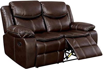 Amazon.com: Classic Double Reclining Loveseat - Bonded Leather