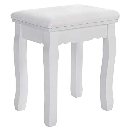 SONGMICS Dressing Table Stool Makeup Vanity Stool Padded Bench Chair