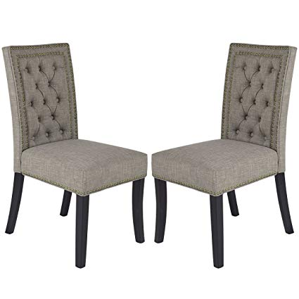 Amazon.com - Giantex Set of 2 Button-Tufted Upholstered Fabric