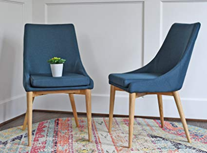 Amazon.com - Upholstered Modern Dining Room Chairs - Mid Century