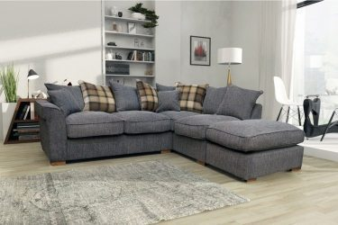Harley Scatter Fabric Corner Sofa Grey - High Quality Cheap Sofas at