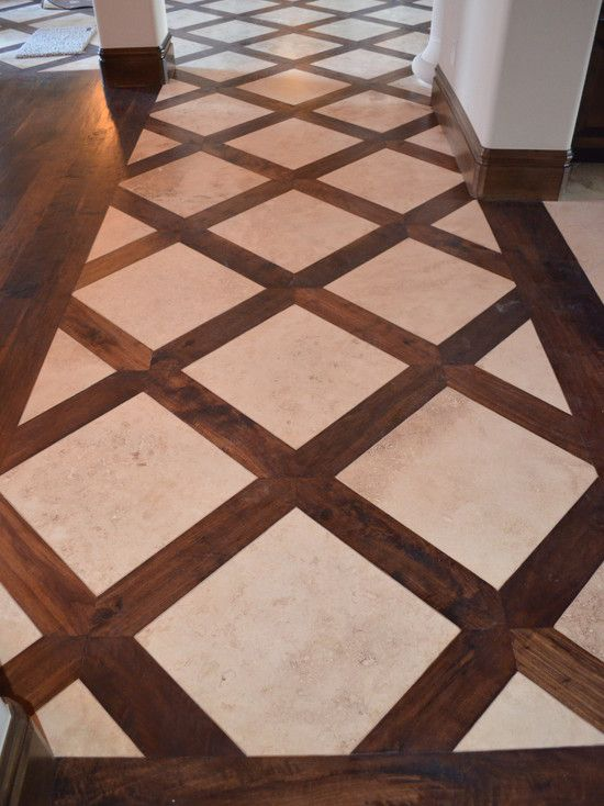 Basketweave Tile And Wood Floor Design, Pictures, Remodel, Decor and