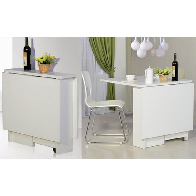 OFFER) Foldable Dining Table with Storage Compartment, Furniture on