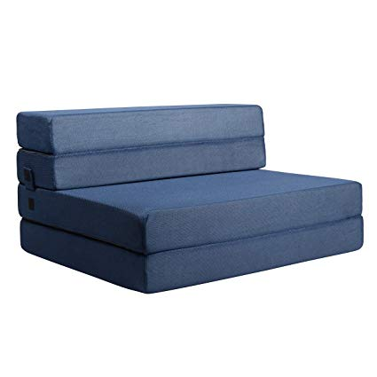 Amazon.com: Milliard Tri-Fold Foam Folding Mattress and Sofa Bed for