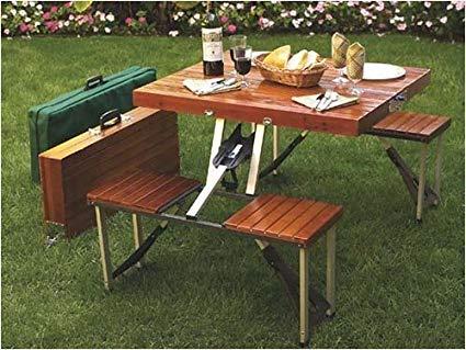 Amazon.com : Tailgate Folding Wooden Picnic Table : Portable Picnic