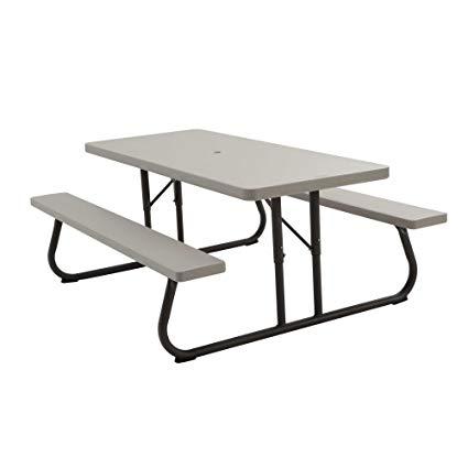 Amazon.com : Lifetime 22119 Folding Picnic Table, 6 Feet, Putty