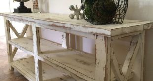 Farmhouse Console Entryway Foyer Table in 2019 | Living Rooms and