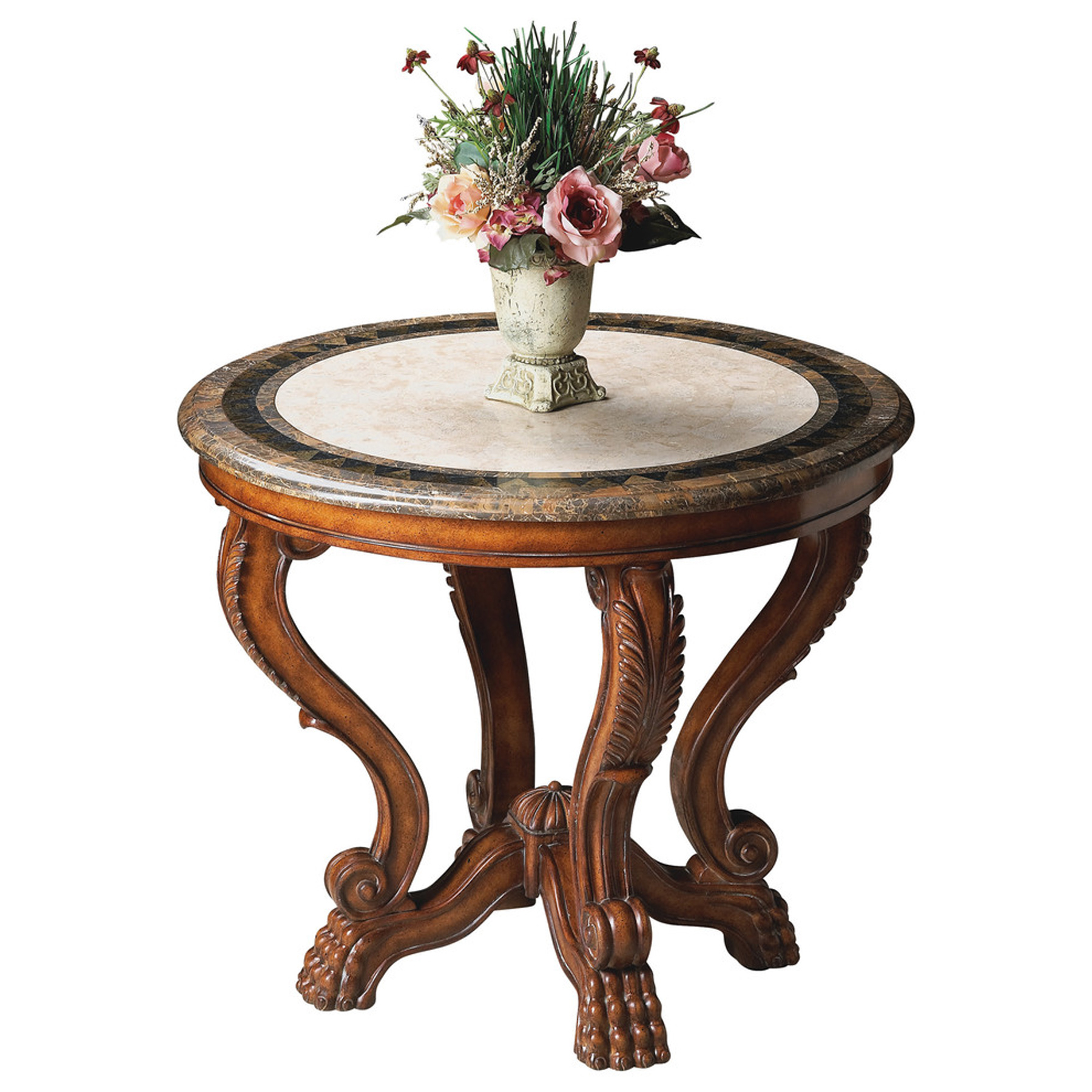 Butler Mabel Fossil Stone Foyer Table - Walmart.com