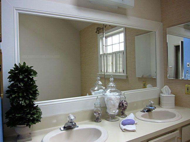 How to Frame a Bathroom Mirror | BATHROOM DESIGNS | Bathroom, Home