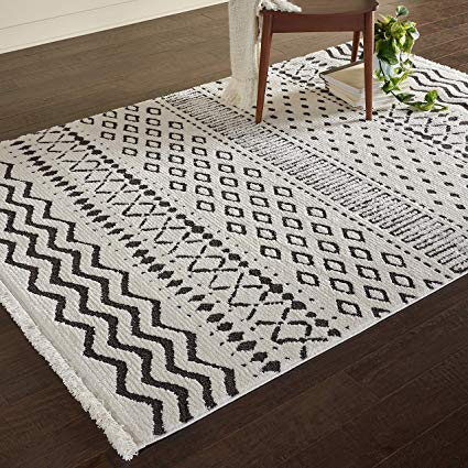 Amazon.com: Rivet Contemporary Geometric Rug, 7' 3