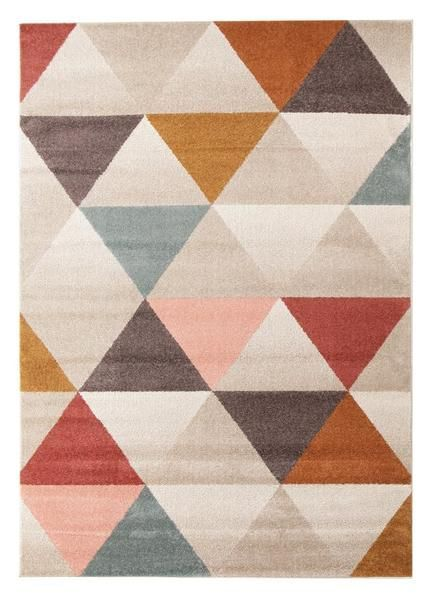 Geometric rugs like this one can add a sense of creativity and fun