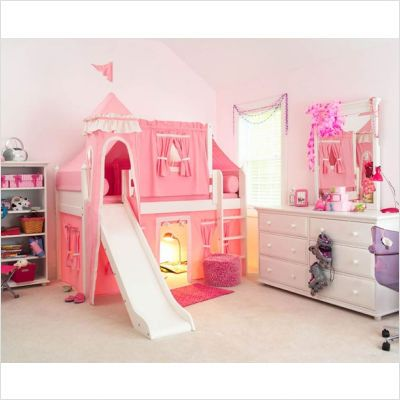 Toddler Girls Bedroom Sets | Matrix Low Loft Castle Bed For Girls