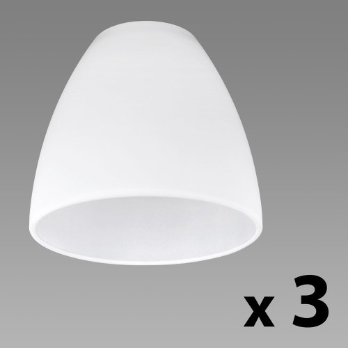 Set of 3 - Beautiful White Frosted Glass Replacement Light Shades