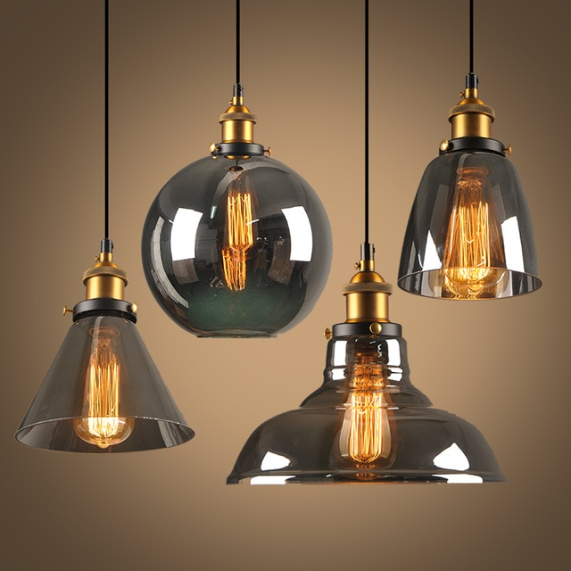 Suspension mode Hanging lamp glass ball hanging lights lamp shades