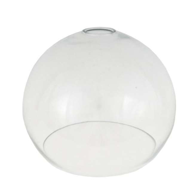 Clear open globe glass lamp shade 35cm | Mullan Lighting
