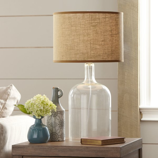 Laurel Foundry Modern Farmhouse Clematite Glass Table Lamp & Reviews