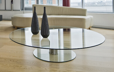 Round Glass Table Top - Clear & Colored Round Glass Dining Table Tops