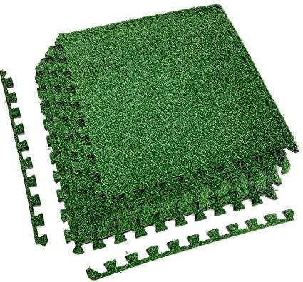 Amazon.com : Sorbus Grass Mat Interlocking Floor Tiles - Soft