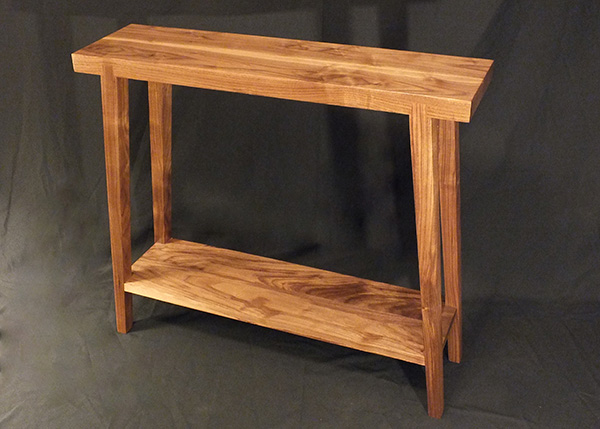 Walnut Hall Table | Benham Design Concepts