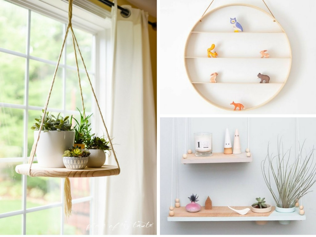22 DIY Hanging Shelves To Maximize Storage in a Tiny Space - She