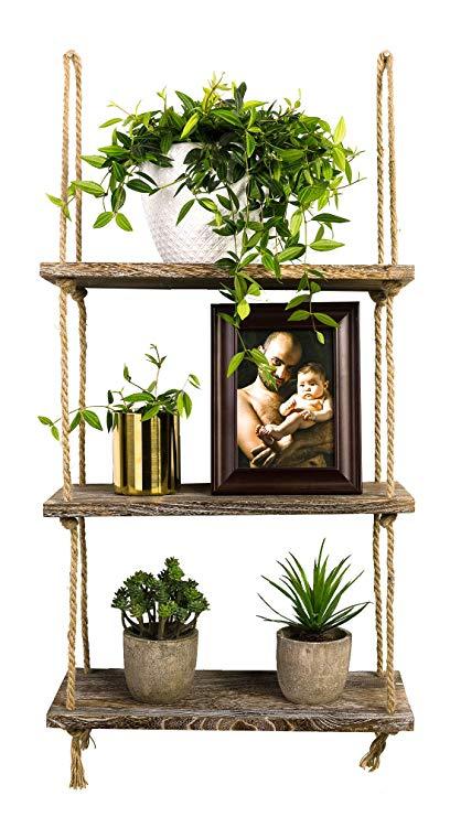 Amazon.com: TIMEYARD Decorative Wall Hanging Shelf, 3 Tier