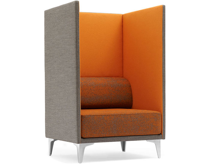 Ej400 Apoluna Box High Back Chair - hivemodern.com