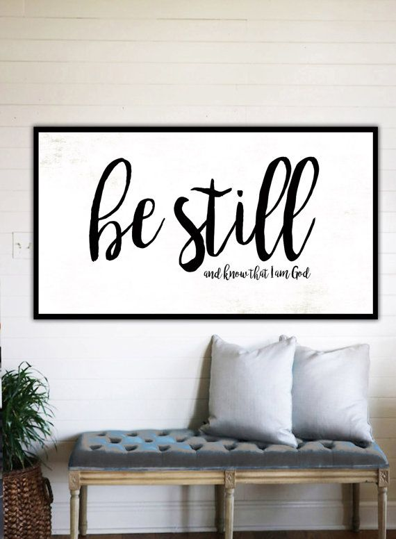 Be Still and Know Fixer Upper Home Decor Gift for Her Farmhouse
