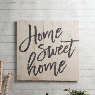 Home Sweet Home Wall Decor | Wayfair