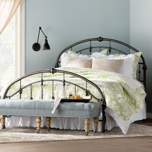 Queen Size Wrought Iron Beds You'll Love | Wayfair