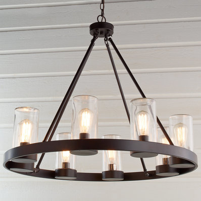 Industrial Indoor/Outdoor Round Chandelier