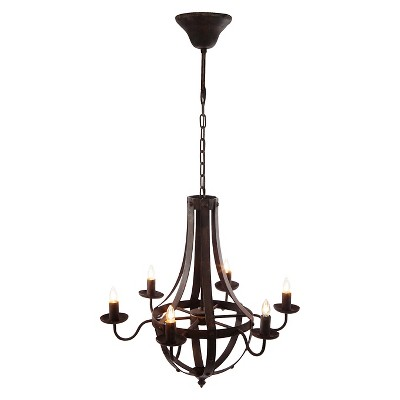 A&B Home Iron Chandelier - Brown