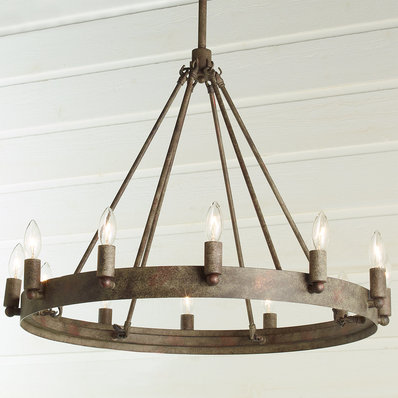 Urban Loft Industrial Circular Chandelier - 12 Light