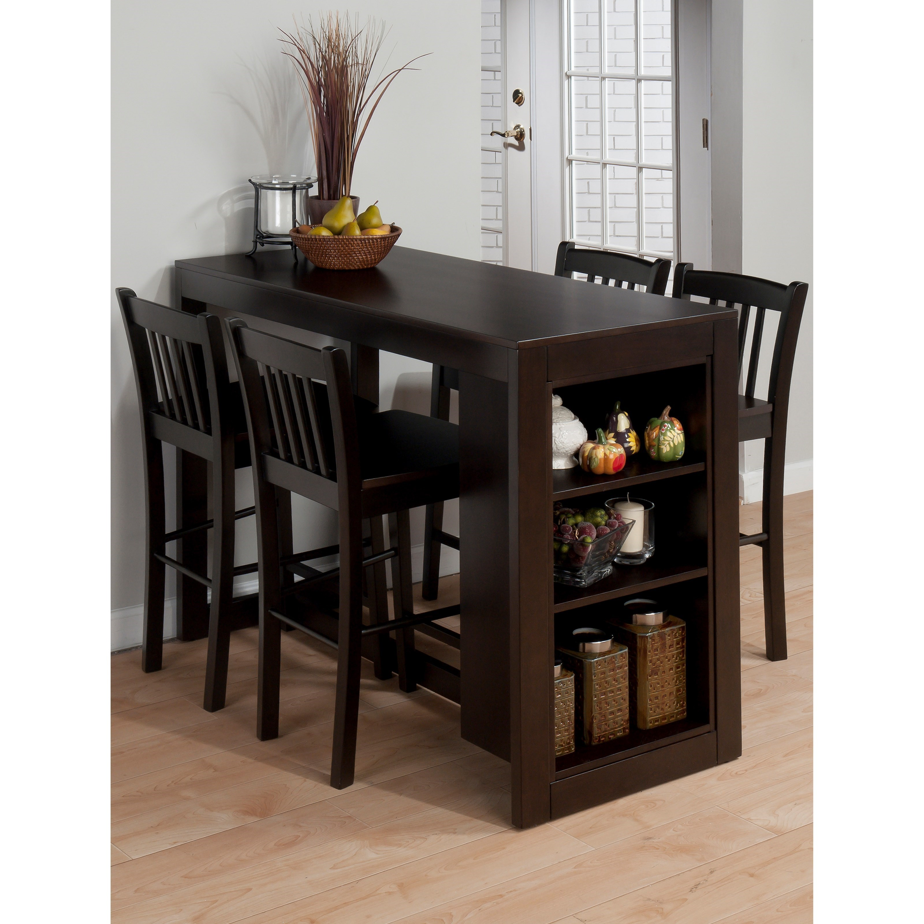 Jofran Tribeca Counter Height Table with 4 Chairs - Jofran