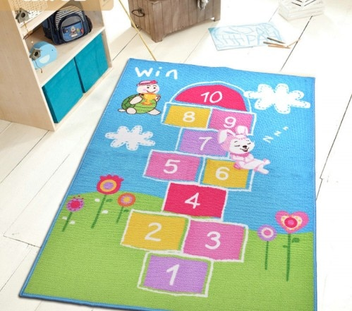 Kids Rug Baby Room Carpet Blue Sky Printed Fairy Girls Rugs and