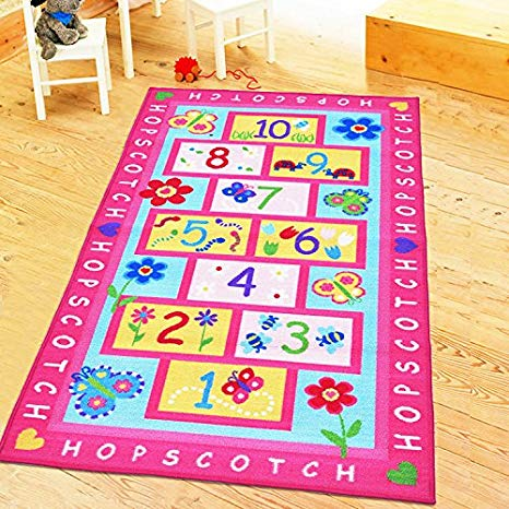 Amazon.com: HUAHOO Pink Rug Girls Pink Kids Rug Children's Rugs Baby