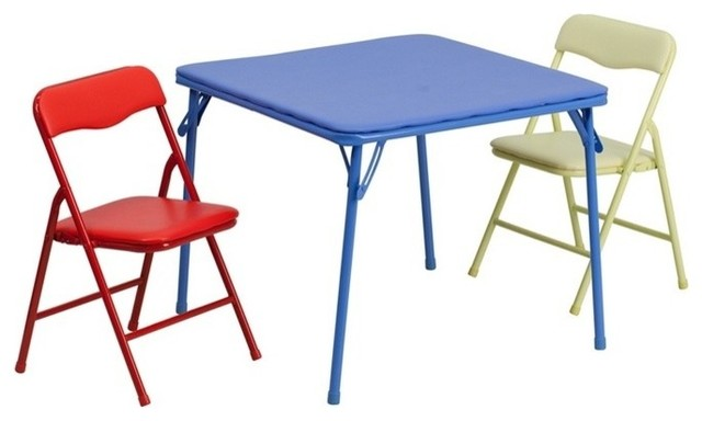 Multi-Purpose Kids Table Set Easy to Move and Store - Contemporary