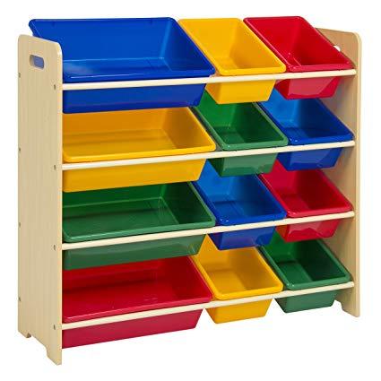 Amazon.com: Best Choice Products 4-Tier Kids Wood Toy Storage
