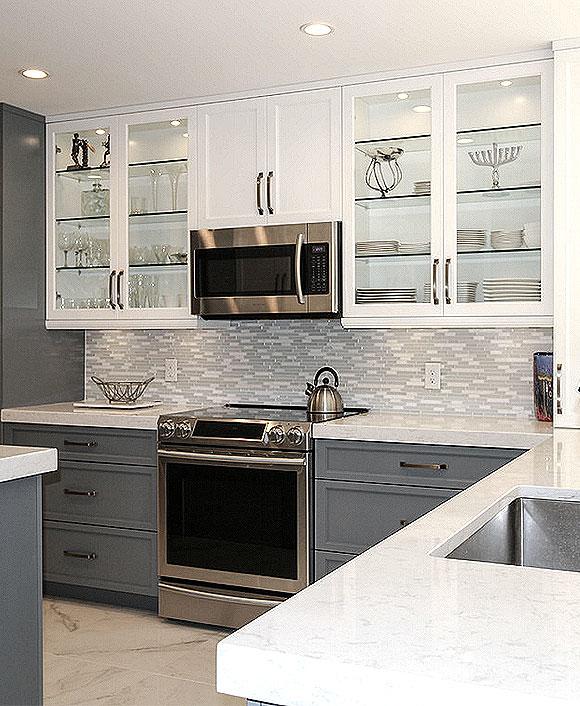 MODERN White Marble Glass Kitchen Backsplash Tile | Backsplash.com