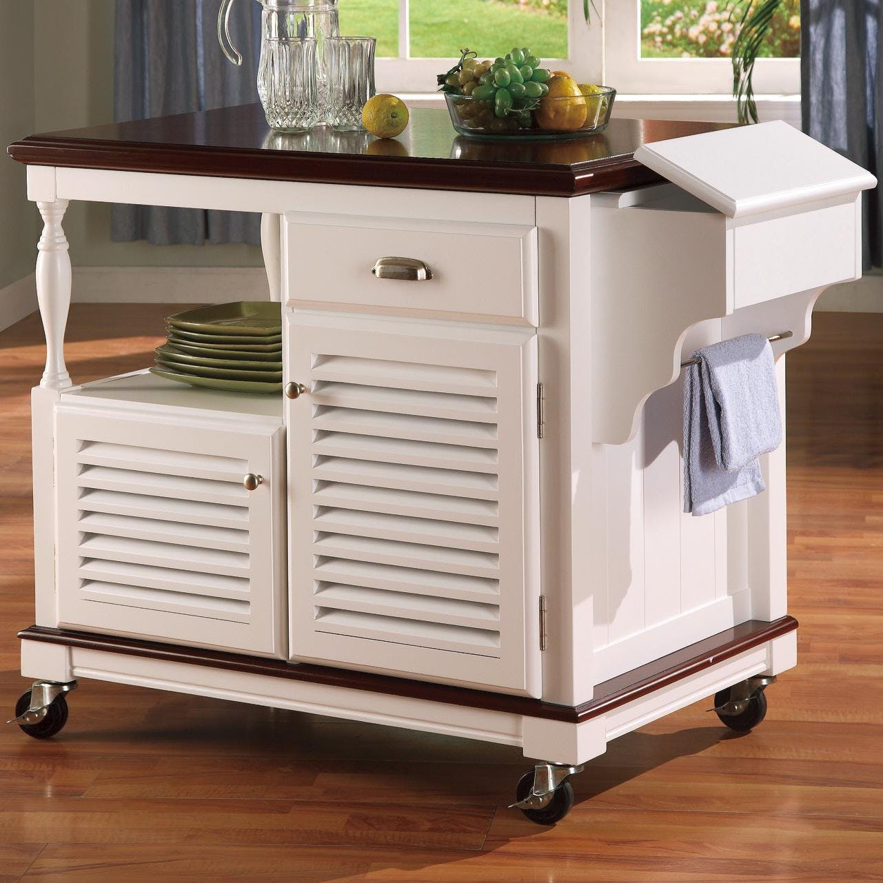 Coaster Kitchen Cart 910013 - Gallery Furniture - Medford, NY