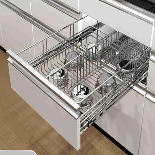 Modular Kitchen Sliding Drawers, मॉड्यूलर किचन