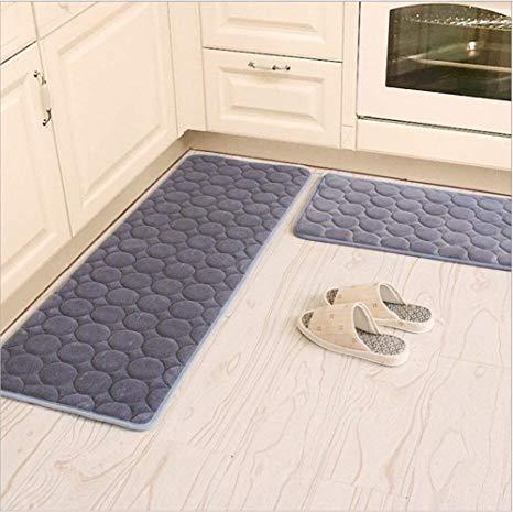 Amazon.com: Kitchen Rugs, CAMAL 2 Pieces Non-Slip Memory Foam