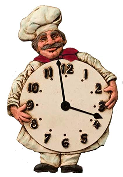 Amazon.com: Chef Kitchen Wall Clock: Home & Kitchen