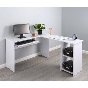 L-Shaped White Desks You'll Love | Wayfair