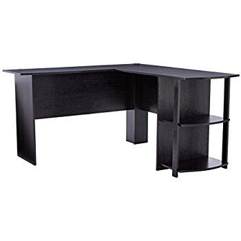 Amazon.com: Ameriwood Home Dakota L-Shaped Desk with Bookshelves