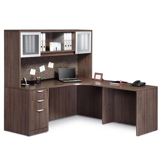 Ndi Office Furniture Executive L-Shaped Desk - Pl24 | L-Shaped Desks