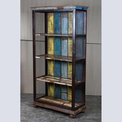 Large Bookcase made from wood and metal - JUGs Furniture